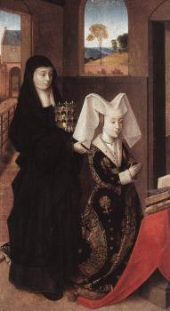 Petrus Christus : Isabel Of Portugal With St Elizabeth